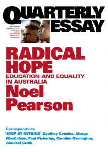 Quarterly Essay 35: Radical Hope